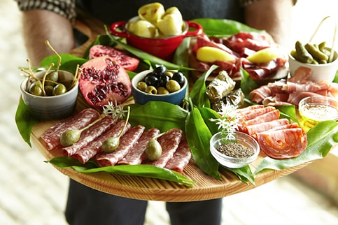 Garlic Wood catering - antipasti platter